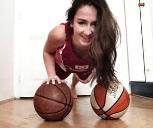 Basketball, push up, and basketball girl image