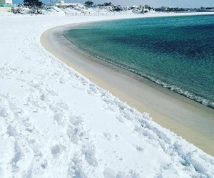 sea, snow, and winter image