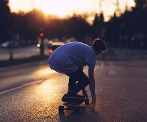 boy, skate, and skater image