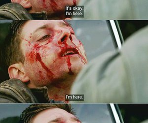 ackles, blood, and dean winchester image