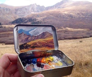 art, nature, and painting image
