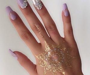 nails, henna, and nail art image