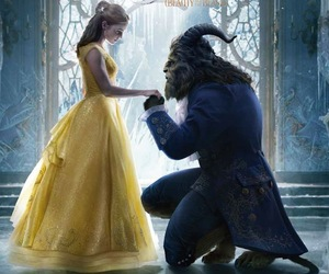 emma watson, beast, and beauty and the beast image