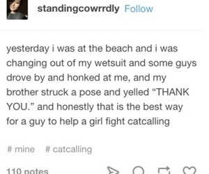 funny, tumblr, and catcalling image