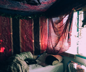 bedroom, boho, and decoration image