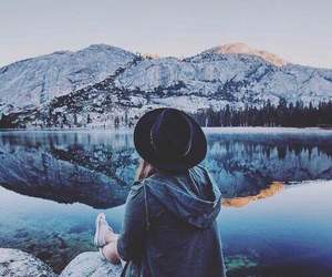 girl, travel, and mountains image