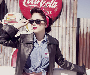 girl, rockabilly, and vintage image