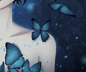 blue, butterflies, and cool image