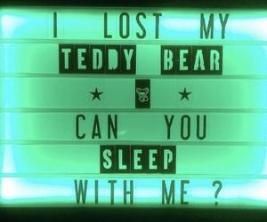 bear, lost, and sleep image