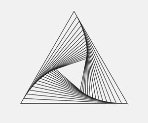 minimalist and triangle image