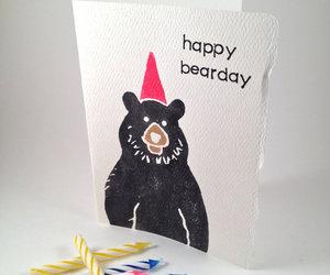 bear, black bear, and greeting card image
