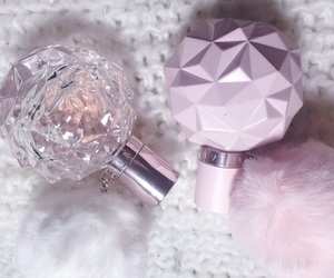 perfume, pink, and ariana grande image