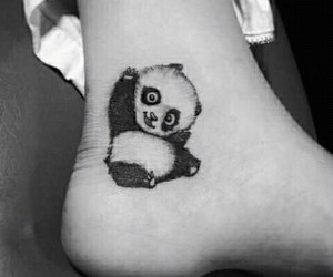 art, tattoo, and panda image