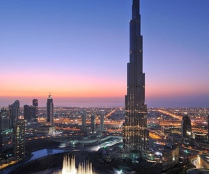 Dubai, city, and travel image