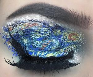art, make up, and van gogh image