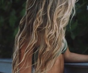hairstyle, blonde, and long hair image