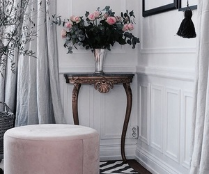 interior, decoration, and flowers image
