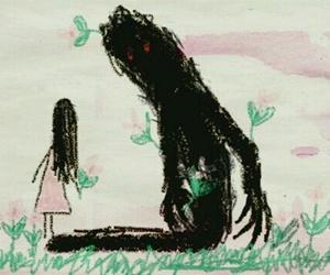 drawing, monster, and sad image