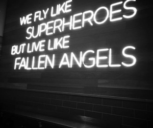 neon, angels, and quotes image