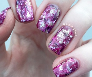 girly, marble, and nails image