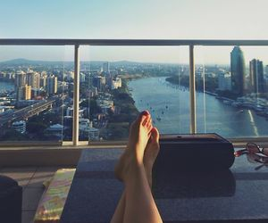 city, legs, and photography image