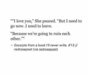leave, ruin, and excerpts image
