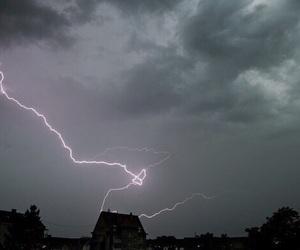 grunge, sky, and lightning image