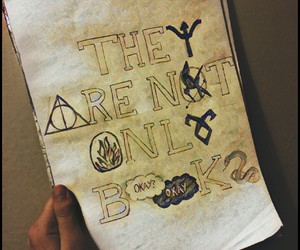 books, harry potter, and hunger games image