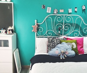 blue, decor, and diy image