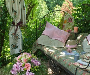 comfy, floral, and garden image