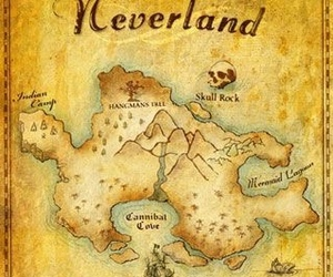 neverland, peter pan, and disney image