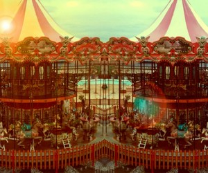 carousel, circus, and happy image