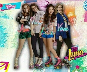 ❤, soy luna, and 💜 image