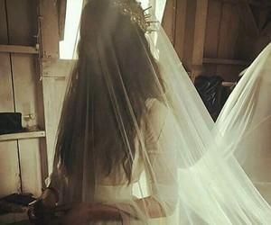 bride, wedding, and crown image
