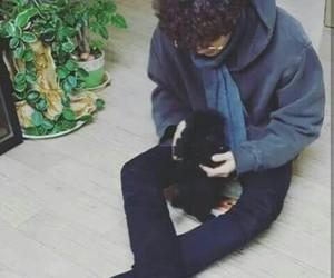 exo, chanyeol, and dog image