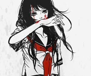 anime, blood, and manga image