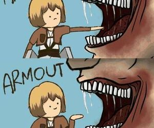 armin, attack on titan, and anime image