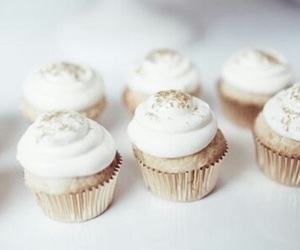cupcake, food, and white image