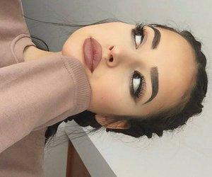beauty, eyebrows, and lips image