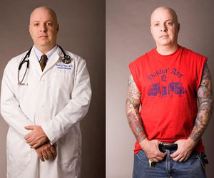 contrast, doctor, and tattoo image