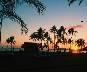 beach, paradise, and sunset image