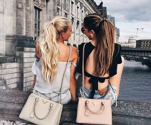 girls, best friends, and travel image