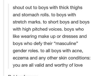 boys, stretch marks, and shoutout image