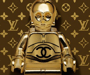 gold, star wars, and Louis Vuitton image