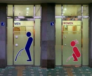 funny, bathroom, and sign image