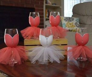 bride, glasses, and bridesmaids image