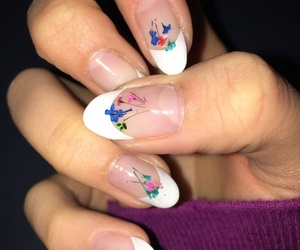 flower, french, and nails image