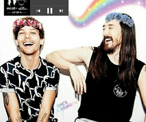 rainbow, steveaoki, and louistomlinson image