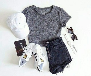 outfit, adidas, and style image