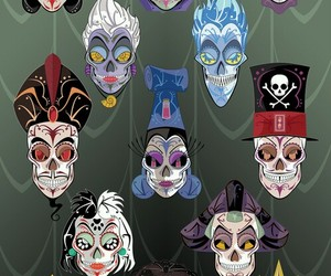 disney, villains, and skull image